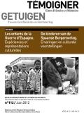 N° 112 (juin 2012) : Les enfants de la Guerre d'Espagne. Expériences et représentations culturelles