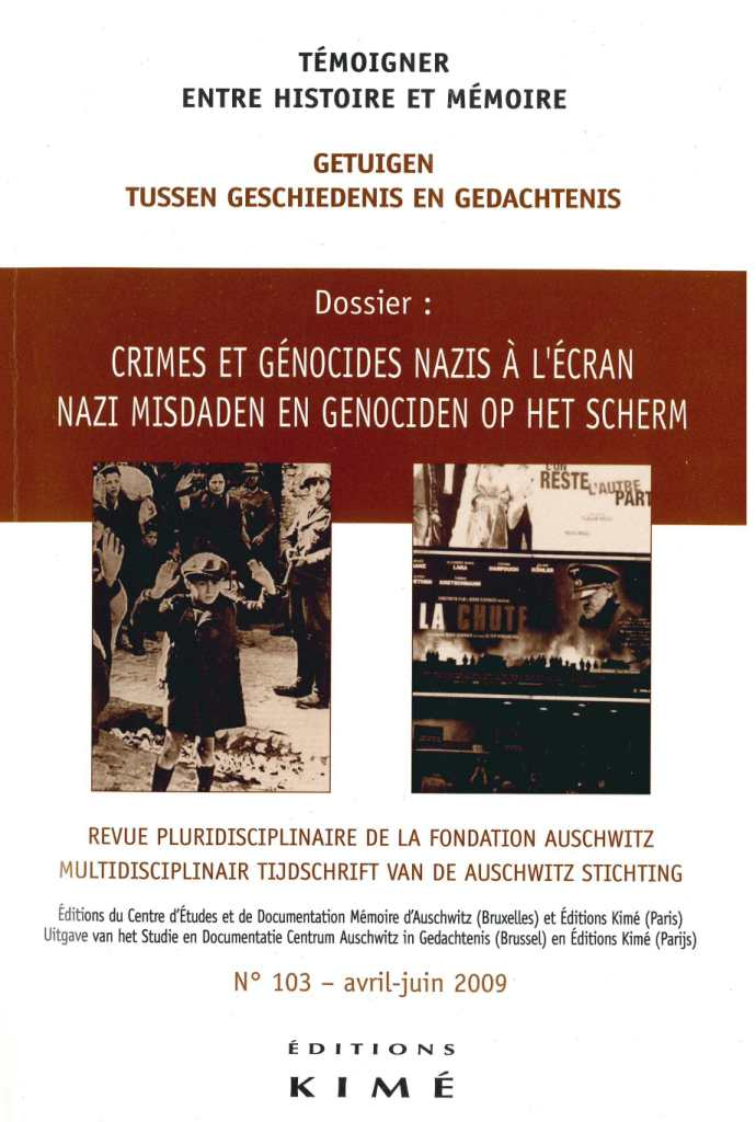 n° 103 (06/2009) Crimes et génocides nazis à l'écran